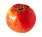 Fresh ripe red apple isolated on white background Royalty Free Stock Photos