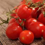 Fresh ripe red cherry tomatoes Stock Image