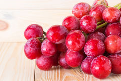 Fresh ripe red grapes Stock Photo