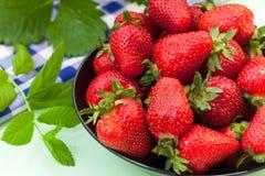 Fresh ripe red strawberries Royalty Free Stock Photo