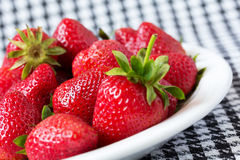 Fresh ripe red strawberries Stock Photo