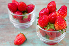 Fresh ripe red strawberries Royalty Free Stock Photography