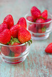 Fresh ripe red strawberries Royalty Free Stock Image