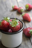 Fresh ripe red strawberries Royalty Free Stock Images