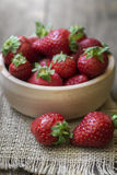 Fresh ripe red strawberries Stock Images
