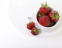 Fresh ripe strawberries in a cup Stock Photography