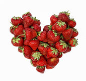 Fresh ripe strawberries in heart shape Stock Image