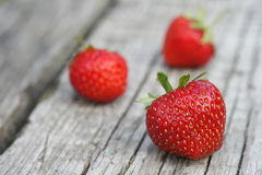 Fresh, ripe strawberries Royalty Free Stock Images
