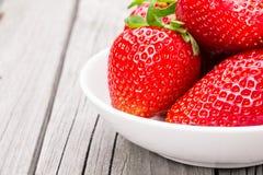 Fresh ripe strawberries royalty free stock photo