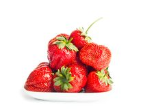 Fresh ripe strawberries on a white background Royalty Free Stock Photography