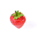 Fresh ripe strawberries on white background. Fresh ripe strawberries isolated on white background Stock Images