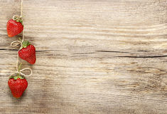 Fresh ripe strawberries on wooden background Stock Photo