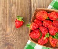 Fresh ripe strawberry in bowl Stock Photos