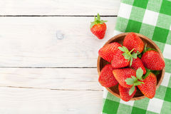 Fresh ripe strawberry in bowl Royalty Free Stock Images