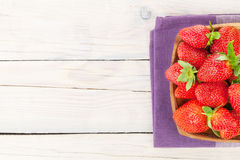 Fresh ripe strawberry in bowl Royalty Free Stock Image