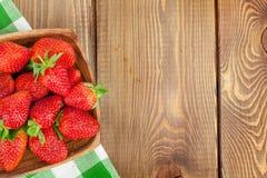Fresh ripe strawberry in bowl Royalty Free Stock Image