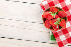 Fresh ripe strawberry in bowl Stock Photography