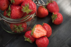 Fresh ripe strawberry Stock Photos