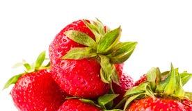 Fresh ripe strawberry isolated on white background. Studio macro. Fresh ripe strawberry isolated on clean white background. Studio macro Stock Images