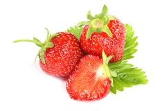 Fresh ripe strawberry on white background Royalty Free Stock Photography