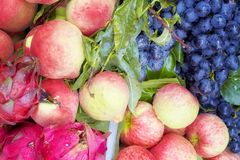 Fresh ripe and sweet fruits on local market. Royalty Free Stock Image
