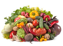 Fresh ripe vegetable mix Royalty Free Stock Photos