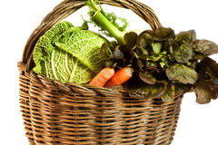 Fresh and ripe vegetables arranged in a basket Stock Photography