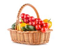 Vegetables in a basket royalty free stock images