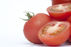 Fresh ripe vine tomatoes vegetables Stock Photography