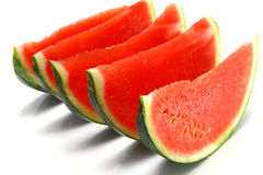 Fresh ripe watermelon slices Stock Image