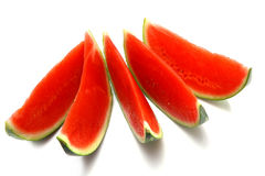 Fresh ripe watermelon slices Stock Images