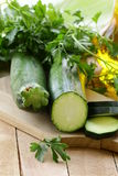 Fresh ripe zucchini Stock Photo