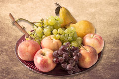 Fresh riped fruits Stock Images