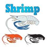 Fresh river Prawn,Cooked Sea Shrimp Royalty Free Stock Photography