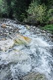Fresh River. And the Rocks royalty free stock photography