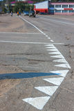 Fresh road markings Royalty Free Stock Image