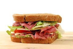 Fresh roast beef sandwich Royalty Free Stock Photos