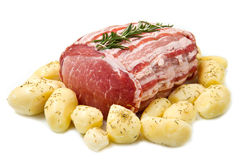 Fresh roast of veal stock image