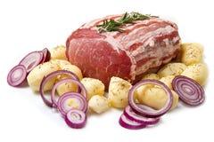 Fresh roast of veal royalty free stock photos