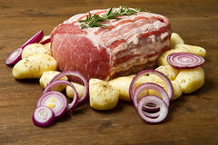 Fresh roast of veal royalty free stock images