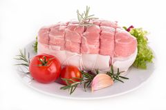 Fresh roast of veal Stock Image