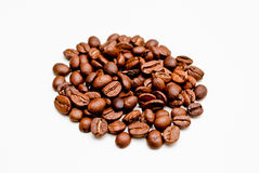 Coffee beans isolated on white background Stock Photo