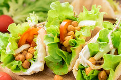 Fresh roasted chickpea gyros for healthy snack Stock Photo