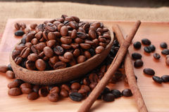 Fresh Roasted Coffee Beans Background Royalty Free Stock Photo