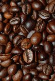 Fresh roasted coffee beans. Background, texture. Arabica bean wallpaper, close-up Royalty Free Stock Images
