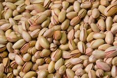 Fresh roasted pistachios Royalty Free Stock Images