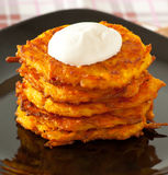 Pumpkin pancakes Royalty Free Stock Photography