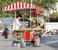 Fresh roasted sweet vendor Stock Image