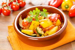 Fresh roasted vegetables Royalty Free Stock Images