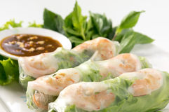 Fresh Roll with shrimp inside Royalty Free Stock Photo